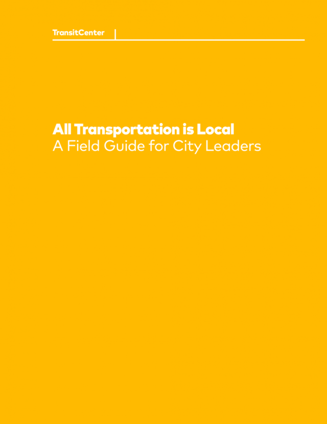 Cover for the All Transportation is Local cover