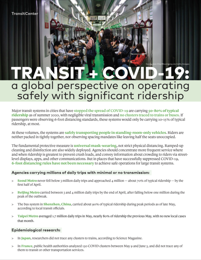 Image for: Transit + COVID-19